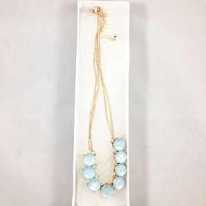 Jewelry - Beautiful Light Blue and Gold Necklace, NWOT